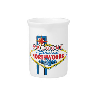Snowmobiling/Welcome to the Fabulous Northwoods Drink Pitcher