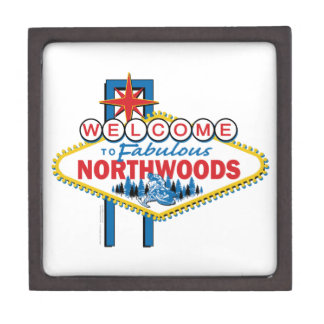 Snowmobiling/Welcome to the Fabulous Northwoods Keepsake Box