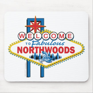 Snowmobiling/Welcome to the Fabulous Northwoods Mouse Pad