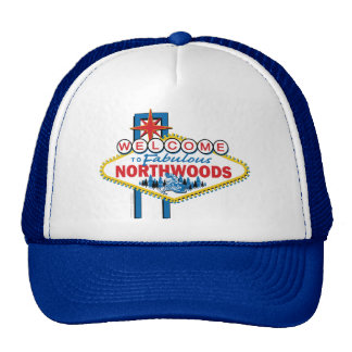 Snowmobiling Welcome to the Northwoods Hats