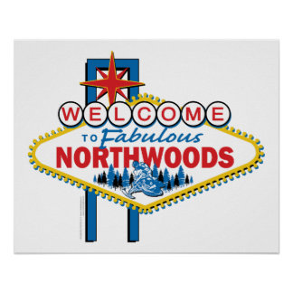 Snowmobiling/Welcome to the Northwoods Poster