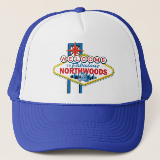 Snowmobiling/Welcome to the Northwoods Trucker Hat