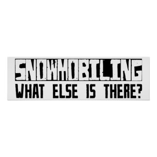 Snowmobiling What Else Is There? Poster