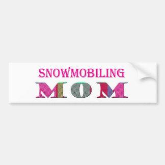 SnowmobilingMom Car Bumper Sticker