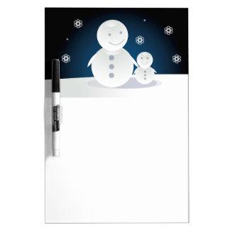 Snowpeople sonriente pizarras blancas