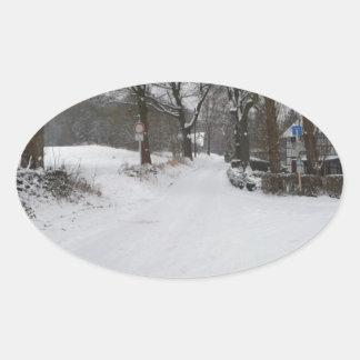 Snowpicture Oval Sticker