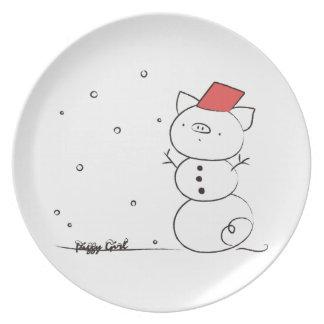 SNOWPIG DINNER PLATE