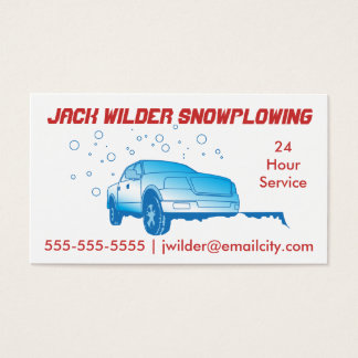 Snowplowing Action Business Card
