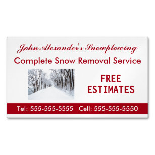 Snow Removal Business Cards Zazzle