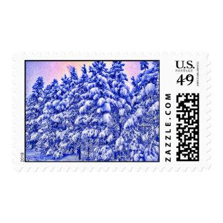 Snowscape azul sellos
