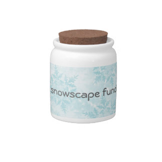 Snowscape Fund Jar Candy Dish