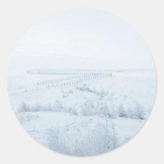 Snowscape in Japan Classic Round Sticker