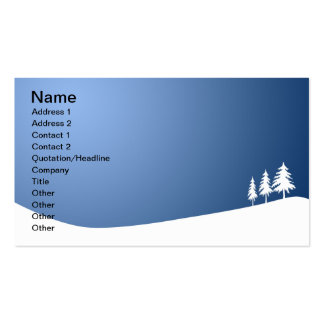 Snowscene Plantilla De Tarjeta Personal