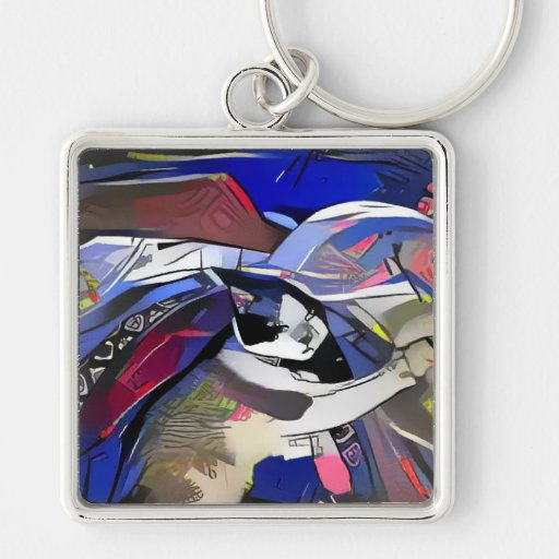 snowshoe afterdark kitty keychain