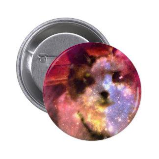 snowshoe aurora borealis kitty pinback button