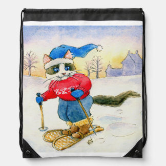 Snowshoe Cat winter sports Backpack