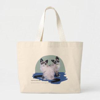 Snowshoe Cats Canvas Bag