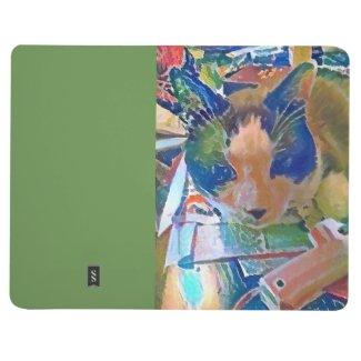 snowshoe crafting kitty journal