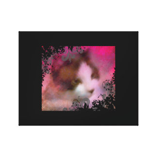 snowshoe dreamy kitty canvas print