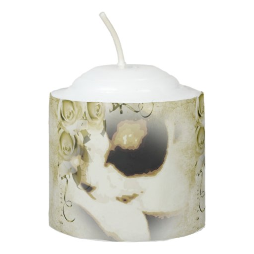 Snowshoe golden roses kitty votive candle