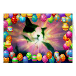 Snowshoe Happy Easter Kitty Card