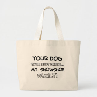 Snowshoe is family designs canvas bags