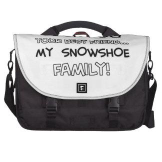 Snowshoe is family designs laptop bag