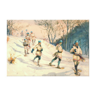 Snowshoe Patrol 1886 Gallery Wrapped Canvas