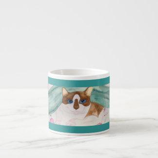 Snowshoe Siamese espresso cup