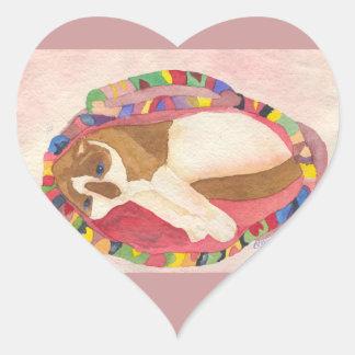 Snowshoe Siamese Heart Sticker