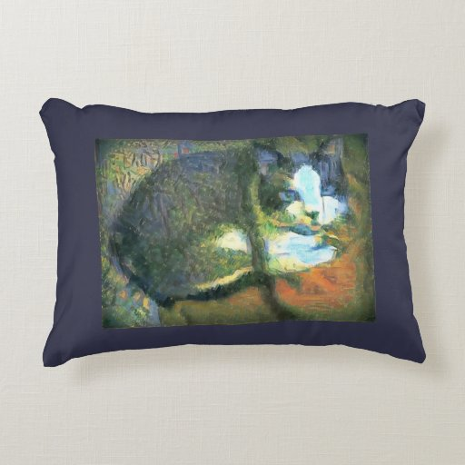 snowshoe stunning kitty accent pillow