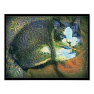 snowshoe stunning kitty poster