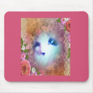 snowshoe victorian lace and flowers kitty mouse pad