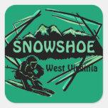 Snowshoe West Virginia green ski logo stickers
