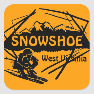 Snowshoe West Virginia orange ski logo stickers
