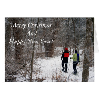 Snowshoeing In The Park Card