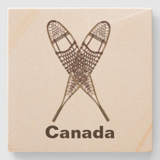 Snowshoes Stone Coaster