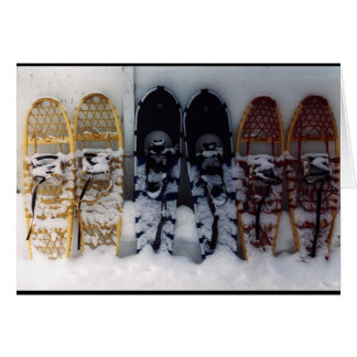 Snowshoes Greeting Card