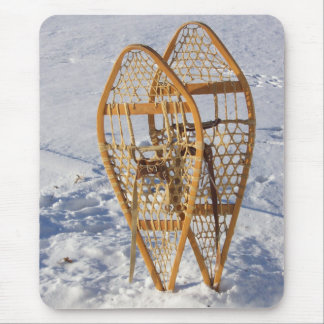 Snowshoes in Snow Mousepad