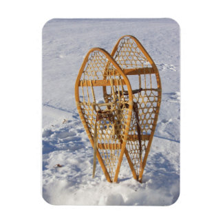Snowshoes in the Snow Rectangle Magnet