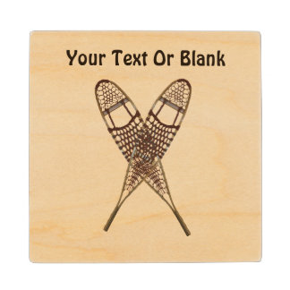 Snowshoes Wood Coaster