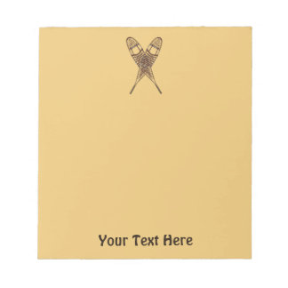 Snowshoes Notepad