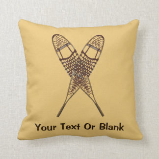 Snowshoes Pillow