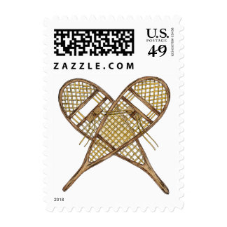 Snowshoes Postage Stamp