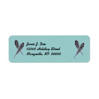 Snowshoes Snowshoer's Return Address Labels