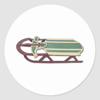 SnowSled061111 Classic Round Sticker