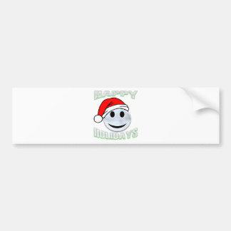 snowsmiley bumper sticker