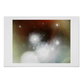 Snowstorm Abstraction I Poster