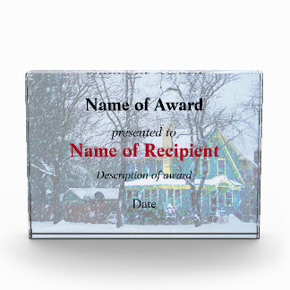 Snowstorm Acrylic Award