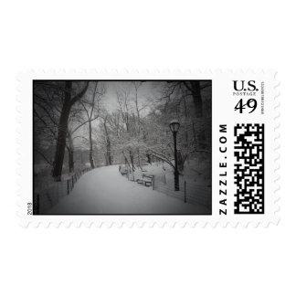 Snowstorm, Central Park, New York City Postage